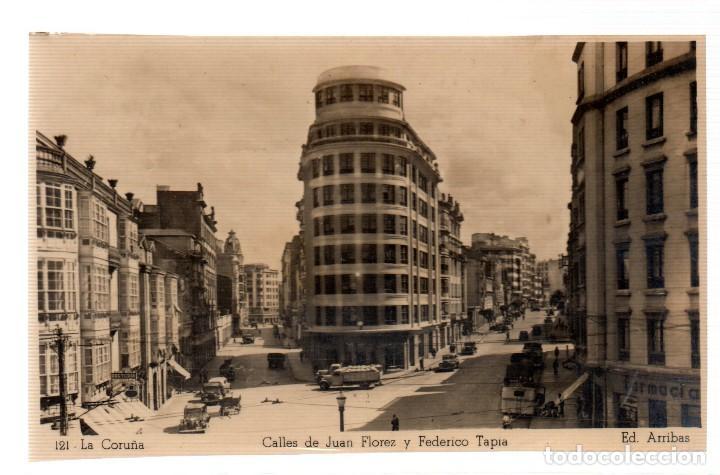 TARJETA POSTAL LA CORUÑA,CALLES DE JUAN FLORES Y FEDERICO TAPIA, EDICIONES ARRIBAS. (Postales - España - Galicia Moderna (desde 1940))