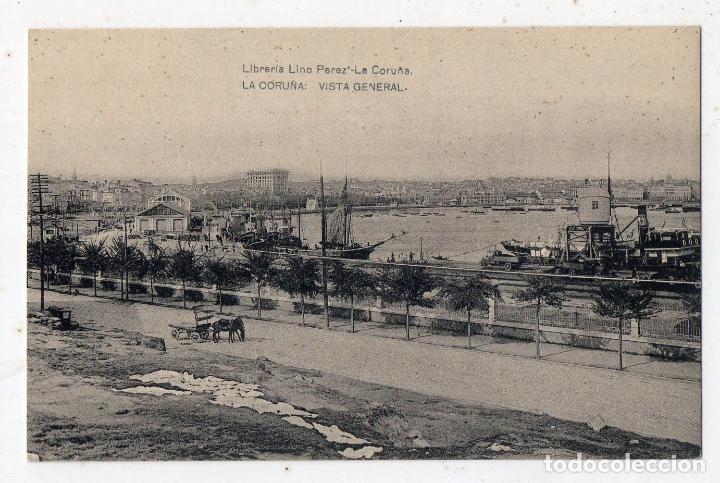 LA CORUÑA. VISTA GENERAL. CARRO DE CABALLO. (Postales - España - Galicia Antigua (hasta 1939))