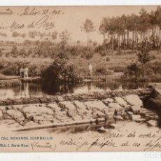 Postales: ORILLAS DEL ROSENDE. CARBALLO. FRANQUEADA EL 14 DE JULIO DE 1902.. Lote 81740636