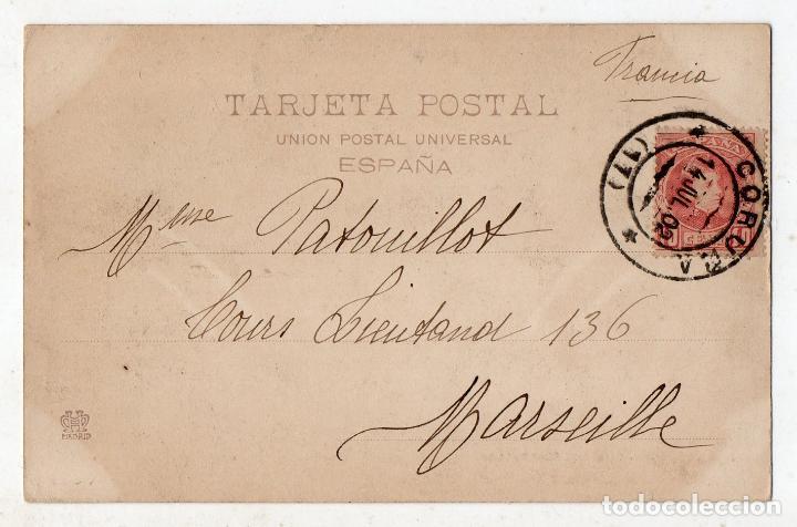 Postales: Orillas del Rosende. Carballo. Franqueada el 14 de Julio de 1902. - Foto 2 - 81740636