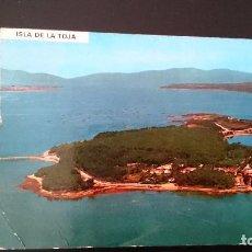Postales: TARJETA POSTAL ISLA DE LA TOJA PONTEVEDRA VISTA AÉREA - CIRCULADA . Lote 81993876