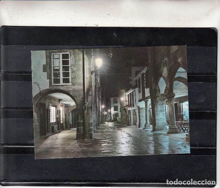 2057 SANTIAGO DE COMPOSTELA. RUA DEL VILLAR. NOCTURNA (Postales - España - Galicia Moderna (desde 1940))