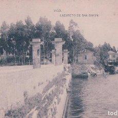 Postales: POSTAL VIGO - LAZARETO DE SAN SIMON - FOTOTIPIA HAUSER Y MENET - GALICIA - PONTEVEDRA. Lote 83730852