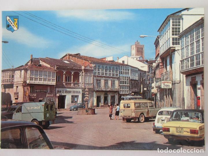 VIANA DEL BOLLO ( ORENSE ) PLAZA MAYOR Y CASTILLO. 2 CV. (Postales - España - Galicia Moderna (desde 1940))