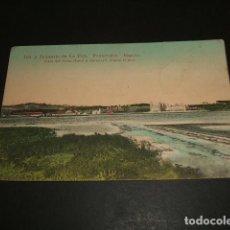 Postales: LA TOJA PONTEVEDRA ISLA Y BALNEARIO VISTA DEL GRAN HOTEL Y BALNEARIO DESDE EL MAR. Lote 86222404