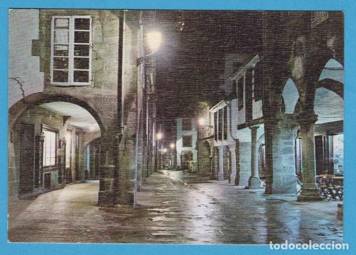 2057.- SANTIAGO DE COMPOSTELA. RUA DEL VILLAR. NOCTURNA. EDICIONES ARRIBAS. NO CIRCULADA (Postales - España - Galicia Moderna (desde 1940))