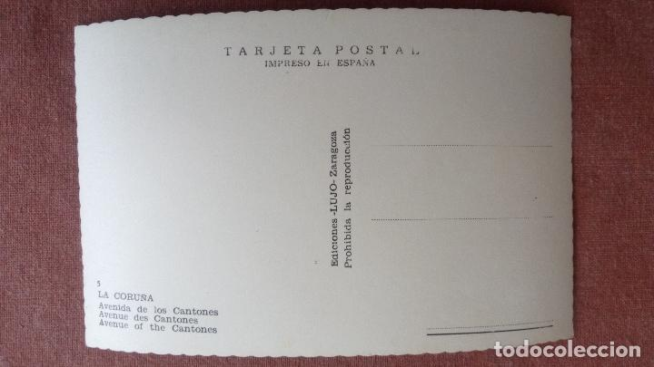 Postales: POSTAL LA CORUÑA - AVENIDA DE LOS CANTONES - Foto 2 - 86673792