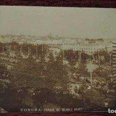 Postales: FOTO POSTAL DE A CORUÑA, PARQUE MENDEZ NUÑEZ, ED. FERRER, N. 3172, NO CIRCULADA.. Lote 87224292