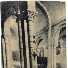 Postales: BONITA POSTAL - SANTIAGO (LA CORUÑA) - COLUMNAS INCLINADAS DE LA REAL COLEGIATA DE SAR . Lote 87236084
