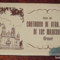 Postales: CUADERNILLO DE 10 VISTAS DE ORENSE: VISTAS DEL SANTUARIO DE NTRA. SRA.DE LOS MILAGROS.. Lote 88282756