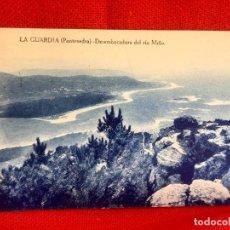 Postales: POSTAL LA GUARDIA PONTEVEDRA GALICIA DESEMBOCADURA DEL RIO MIÑO COLECCION FRANCO PROPIEDAD CIRCULADA. Lote 89283028