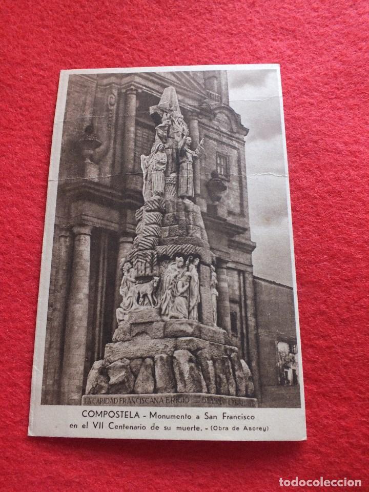 VII CENTENARIO SAN FRANCISCO SANTIAGO DE COMPOSTELA A CORUÑA GALICIA CARIDAD FRANCISCANA (Postales - España - Galicia Antigua (hasta 1939))