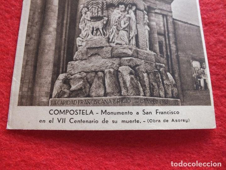 Postales: VII CENTENARIO SAN FRANCISCO SANTIAGO DE COMPOSTELA A CORUÑA GALICIA CARIDAD FRANCISCANA - Foto 2 - 89855244