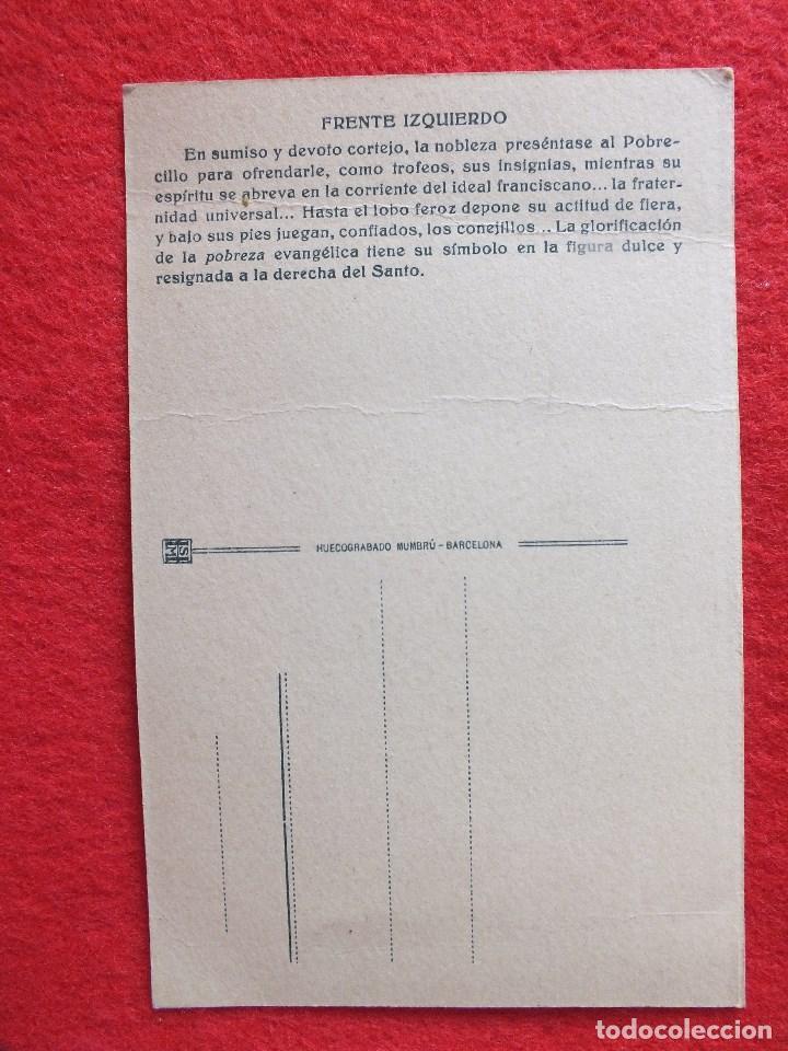 Postales: VII CENTENARIO SAN FRANCISCO SANTIAGO DE COMPOSTELA A CORUÑA GALICIA CARIDAD FRANCISCANA - Foto 3 - 89855244