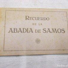 Postales: ALBUM TACO 12 POSTALES ABADIA DE SAMOS LUGO - COMPLETO, EDI PALOMEQUE MADRID - EXCELENTE. Lote 91206970