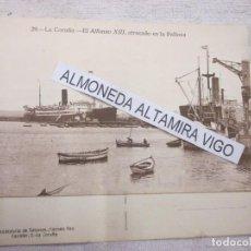 Postales: POSTAL LA CORUÑA - BUQUE ALFONSO XIII EN LA PALLOZA - S/C, EDI HELIOTIPIA CALLMEYER Nº 29, EXCELENTE. Lote 91207900