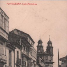 Postales: POSTAL PONTEVEDRA CALLE MICHELENA P.MUNDI/GALI-31 . Lote 91877690