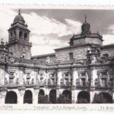 Postais: POSTAL. CELANOVA. ORENSE. MONASTERIO DE SAN ROSENDO. JARDÍN. ED. ARRIBAS. CIRCULADA 1955. Lote 91986575