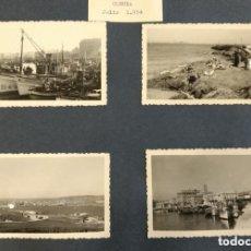 Postales: LOTE DE 58 FOTOGRAFÍAS DE CORUÑA, 1954: PISCINA, CLUB MARITIMO, PUERTO, ETC. CADA UNA 8,50 X 6 CM. Lote 92922260