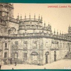 Postales: POSTAL DE SANTIAGO CATEDRAL PUERTA SANTA. Lote 94001130