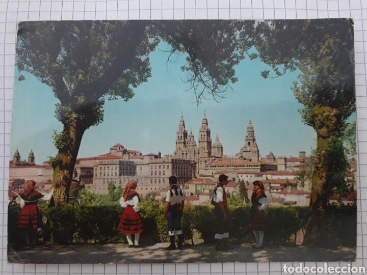 ANTIGUA POSTAL CIRCULADA SANTIAGO 1965 (Postales - España - Galicia Moderna (desde 1940))