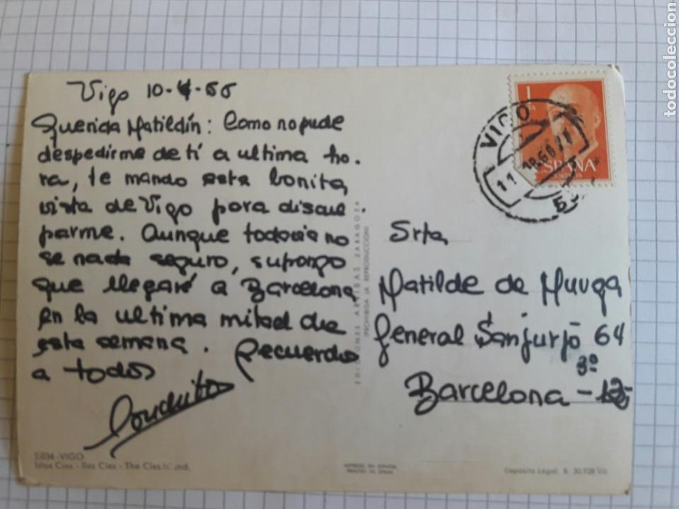 Postales: Postal circulada Vigo 1966 - Foto 2 - 94379199
