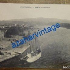 Postales: PONTEVEDRA , MUELLE DE LA BARCA, EDITOR EJG, MUY RARA. Lote 94591843