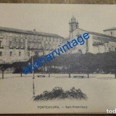 Postales: PONTEVEDRA , SAN FRANCISCO, EDITOR EJG, MUY RARA. Lote 94591963