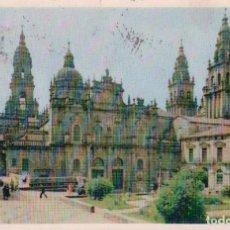 Postales: POSTAL CORUÑA. SANTIAGO. VISTA LATERAL DE LA BASILICA. ED. DOMINGUEZ Nº 10. Lote 94953803