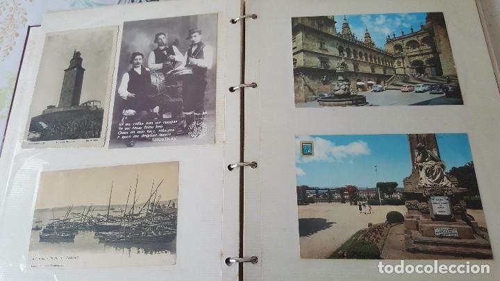 199 POSTALES DE GALICIA. 2 ÁLBUMES GALICIA. COLECCIONISMO, POSTALES ANTIGUAS. (Postales - España - Galicia Moderna (desde 1940))