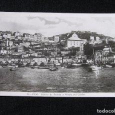 Postales: POSTAL VIGO - RIBERA DE BERBÉS Y MONTE DEL CASTRO - 1946. Lote 95575419