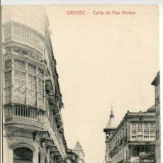 Postales: ORENSE. CALLE DE PAZ NOVOA. FOTOTIPIA CASTAÑEIRA Y ALVAREZ. Lote 95773955