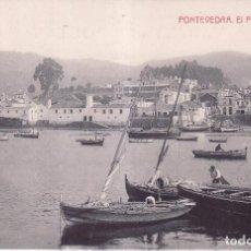 Postales: PONTEVEDRA - EL PUERTO DE MARIN. Lote 96025335
