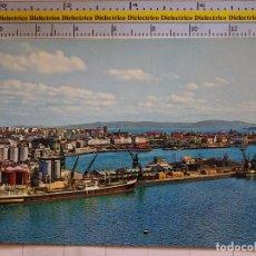 Postales: POSTAL DE LA CORUÑA. AÑO 1966. VISTA GENERAL DEL PUERTO. 604. Lote 96026235