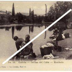 Postales: MAGNIFICA POSTAL - GALICIA - ORILLAS DEL CABE - MONFORTE (LUGO) - MUJERES LAVANDO EN EL RIO. Lote 96712655