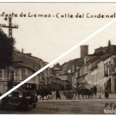Postales: MAGNIFICA POSTAL FOTOGRAFICA - MONFORTE DE LEMOS (LUGO) - CALLE DEL CARDENAL. Lote 96713111