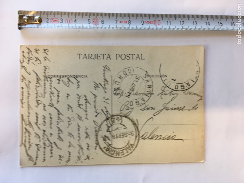 Postales: Postal. SANTIAGO- Columnas inclinadas de la Real Colegiata de Sar (h.1910?) - Foto 2 - 97857995