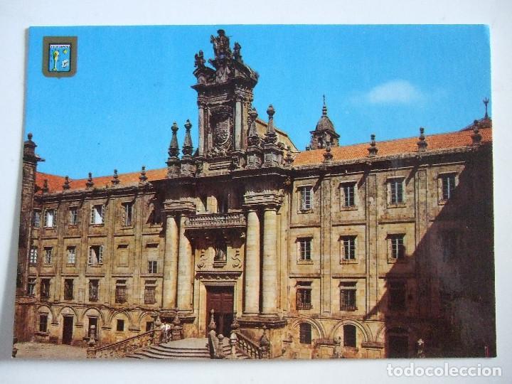 POSTAL CORUÑA - SANTIAGO DE COMPOSTELA - 1978 - DOMINGUEZ 76 - PUBLICIDAD UNION NACIONAL AL DORSO (Postales - España - Galicia Moderna (desde 1940))