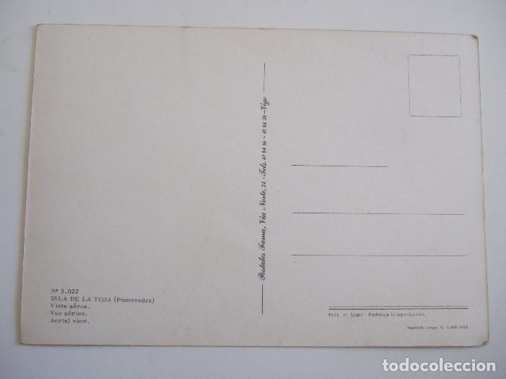 Postales: POSTAL PONTEVEDRA - ISLA DE LA TOJA - VISTA AEREA - 1979 - FAMA 3022 - SIN CIRCULAR - Foto 2 - 98350175