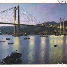 Postales: POSTAL PUENTE DE RANDE. RIA DE VIGO. PONTEVEDRA. Lote 99254411