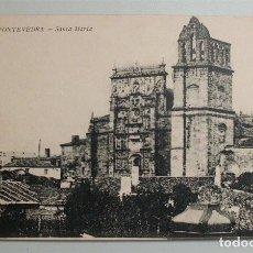 Postales: ANTIGUA POSTAL DE PONTEVEDRA. SANTA MARÍA. ESTANCO DE LA OLIVA. Lote 99656435