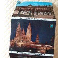 Postales: TIRA DE POSTALES DE SANTIAGO DE COMPOSTELA AÑOS 50 - 60 (10 POSTALES). Lote 100450571