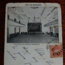Postales: POSTAL DEL BALNEARIO DE MONDARIZ, PONTEVEDRA, TEATRO, CIRCULADA, SIN DIVIDIR.. Lote 100740659