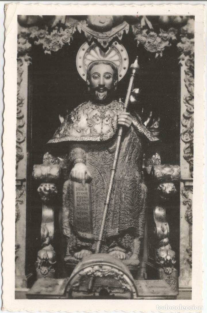 FOTO / POSTAL SANTIAGO DE COMPOSTELA, CATEDRAL, EFIGIE PÉTREA DEL APOSTOL - ED.ARRIBAS 80 - CIRCULAD (Postales - España - Galicia Moderna (desde 1940))