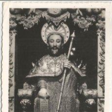 Postales: FOTO / POSTAL SANTIAGO DE COMPOSTELA, CATEDRAL, EFIGIE PÉTREA DEL APOSTOL - ED.ARRIBAS 80 - CIRCULAD. Lote 100972103