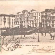 Postales: LA CORUÑA PLAZA DE AZCARRAGA 1902. Lote 43695111