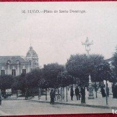 Postales: POSTAL LUGO Nº 10 PLAZA DE SANTO DOMINGO EDIC GRAFOS MADRID GALICIA. Lote 101516435