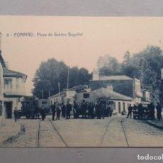 Postales: PONTEVEDRA. PORRIÑO. PLAZA DE GABINO BUGALLAL. ANIMADA. COCHES.. Lote 102532299