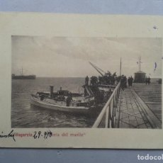 Postales: PONTEVEDRA. VILLAGARCÍA. PUNTA DEL MUELLE. FRANQUEADA EL 29 DE SEPTIEMBRE DE 1910.. Lote 102532823