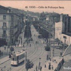 Postales: POSTAL VIGO 46 - CALLE DE POLICARPO SANZ / P.MUNDI/GALI-60 , PERFECTO ESTADO. Lote 103915831